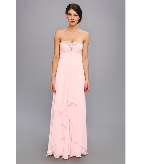 Faviana - Strapless Sweetheart Chiffon Gown 7101 (Ice Pink) Women