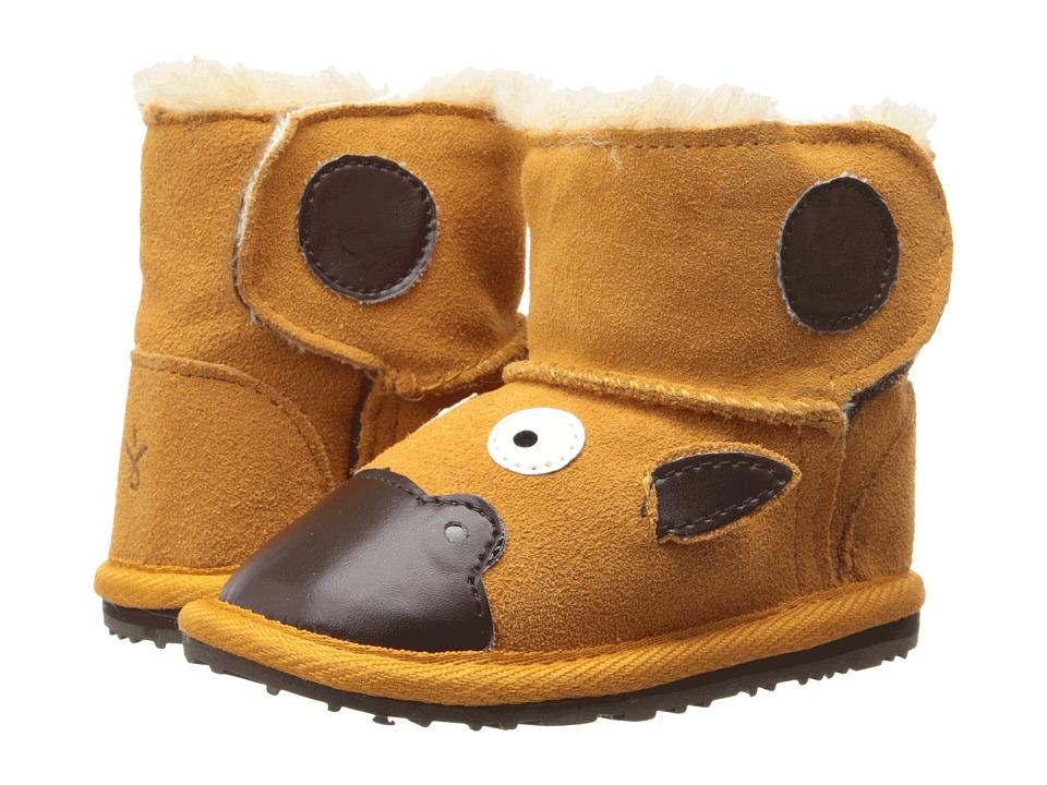 EMU Australia Kids - LC Walker Giraffe (Infant) (Gold) Kids Shoes