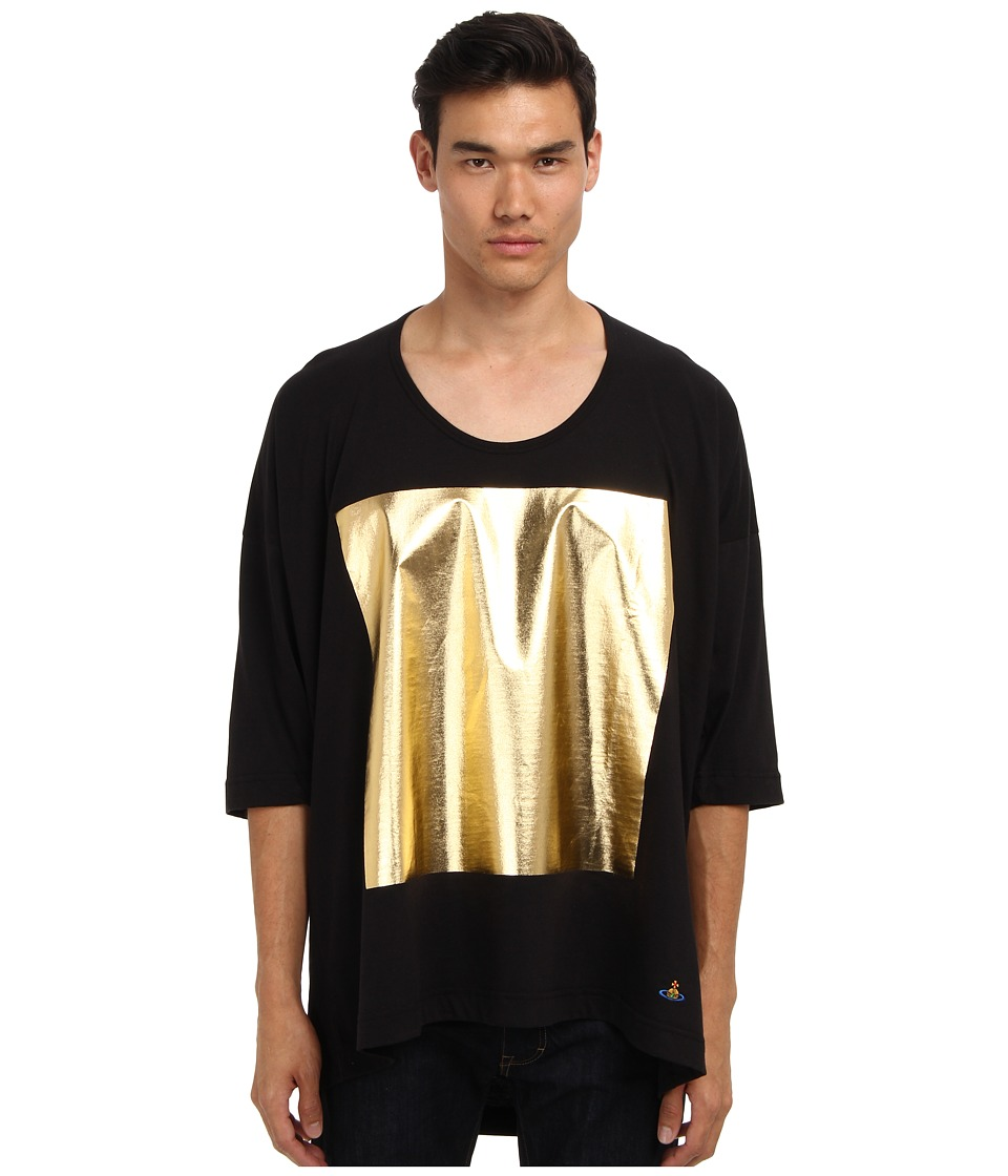 Vivienne Westwood MAN - Gold Label Oversized Laminate Tee (Black) Men's Short Sleeve Pullover