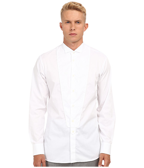 Vivienne Westwood MAN - Tuxedo Button Up (White) Men's Long Sleeve Button Up