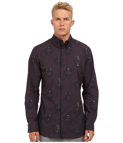 Vivienne Westwood MAN - RUNWAY Pompeiian Mask Button Up (Multi) Men