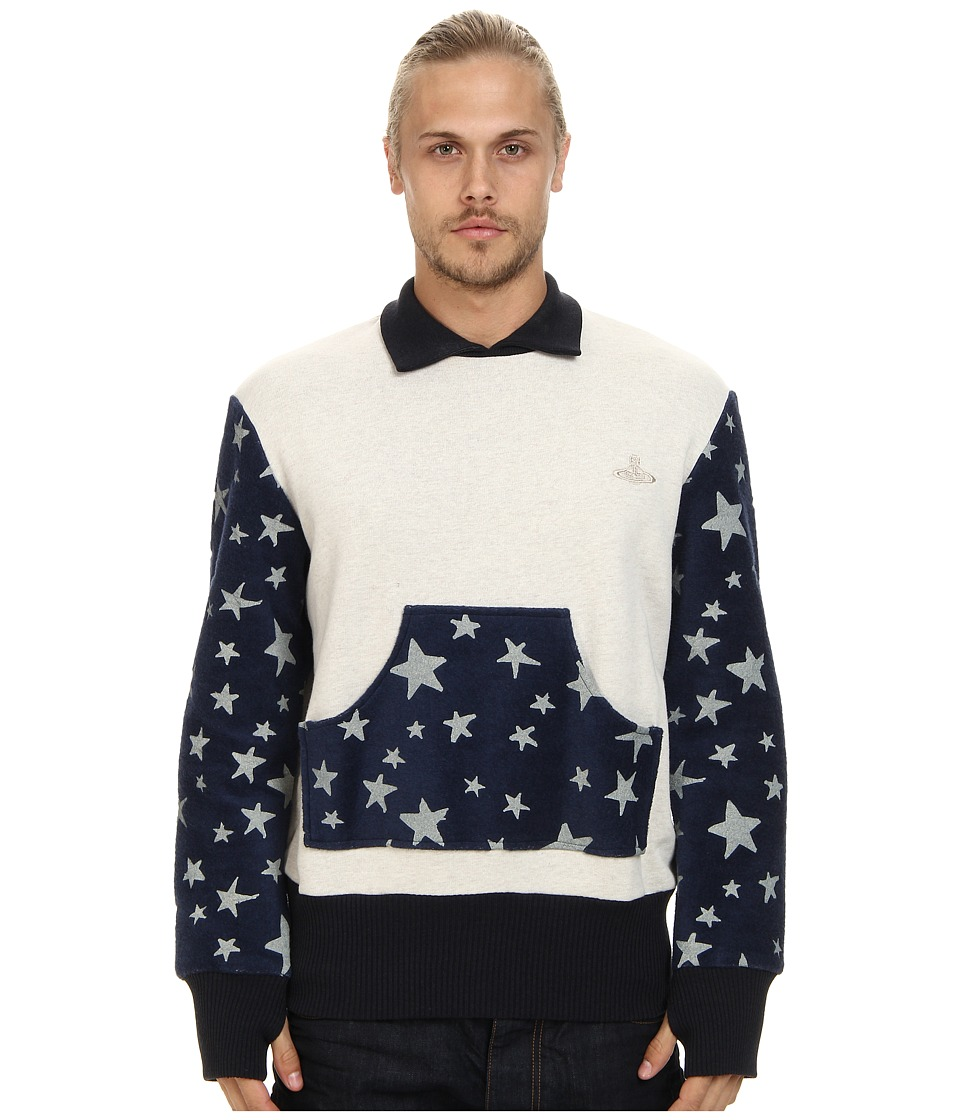 Vivienne Westwood MAN - Anglomania Submarine Sweater (Blue) Men's Sweater