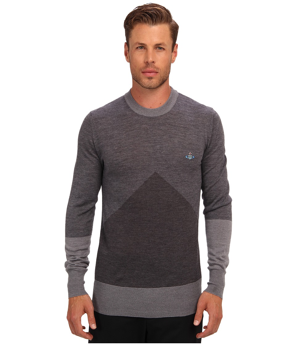 Vivienne Westwood MAN - RUNWAY Intarsia Crewneck Sweater (Multi) Men's Sweater
