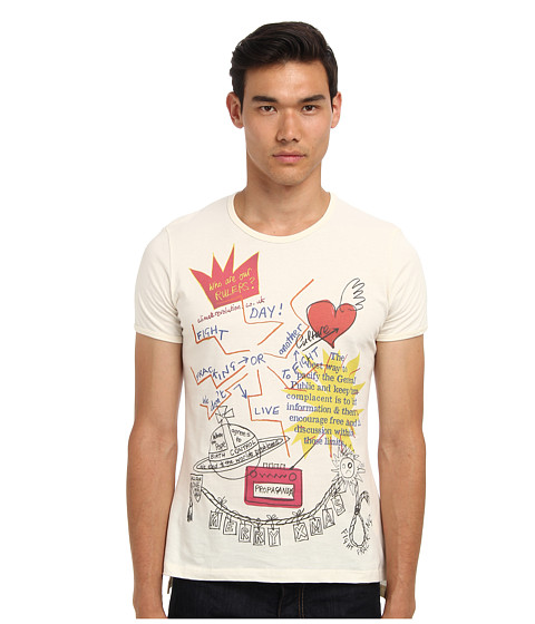 Vivienne Westwood MAN - Gold Label Xmas T-Shirt (Natural) Men's Short Sleeve Pullover