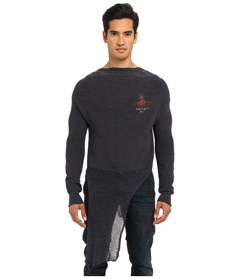 Vivienne Westwood MAN - Gold Label Fisherman Jumper (Indigo) Men's Long Sleeve Pullover