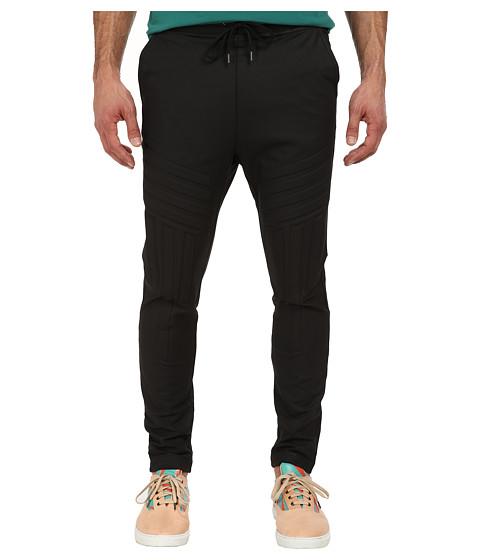 Vivienne Westwood MAN - RUNWAY Coated Felpa Moto Pant (Black) Men