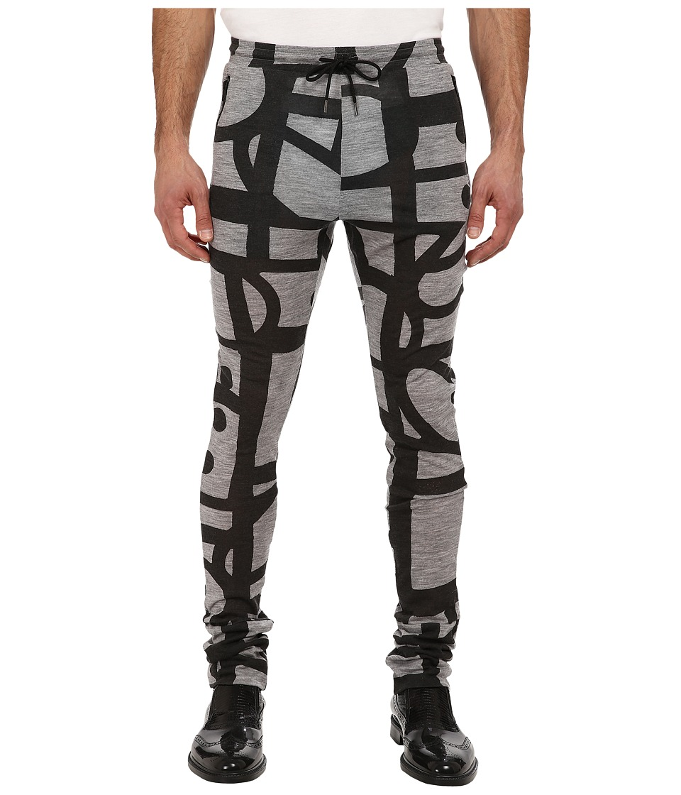 Vivienne Westwood MAN - RUNWAY Printed Jersey Pant (Grey/Black) Men's Casual Pants