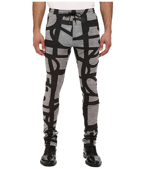 Vivienne Westwood MAN - RUNWAY Printed Jersey Pant (Grey/Black) Men's Casual Pants