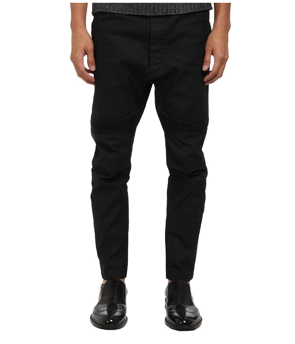 Vivienne Westwood MAN - RUNWAY Stretch Coated Cotton Seamed Pant (Black) Men's Casual Pants