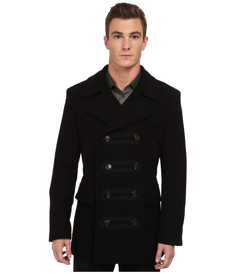 Vivienne Westwood MAN - RUNWAY Double Breasted Coat (Black) Men's Coat