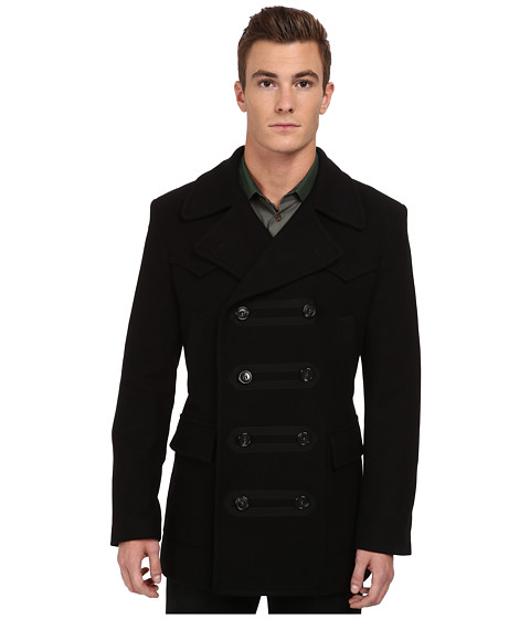 Vivienne Westwood MAN - RUNWAY Double Breasted Coat (Black) Men