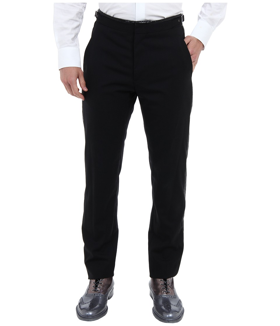 Vivienne Westwood MAN - Fish Scale Tuxedo Trouser (Black) Men's Casual Pants