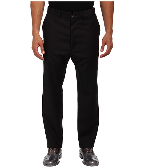 Vivienne Westwood MAN - Merino Flannel Trouser (Black) Men's Casual Pants