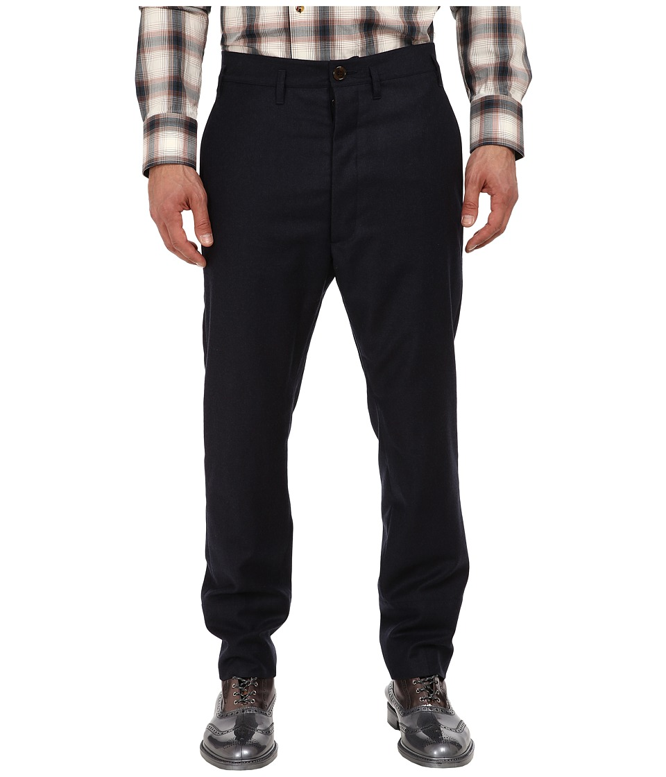 Vivienne Westwood MAN - RUNWAY Trouser (Navy Melange) Men's Casual Pants
