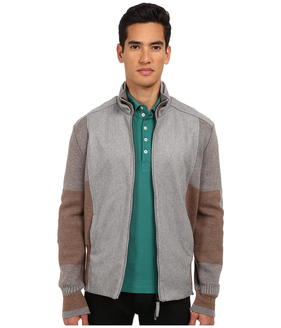 Vivienne Westwood MAN - RUNWAY Merino Colorblock Melton (Grey Melange) Men's Sweater