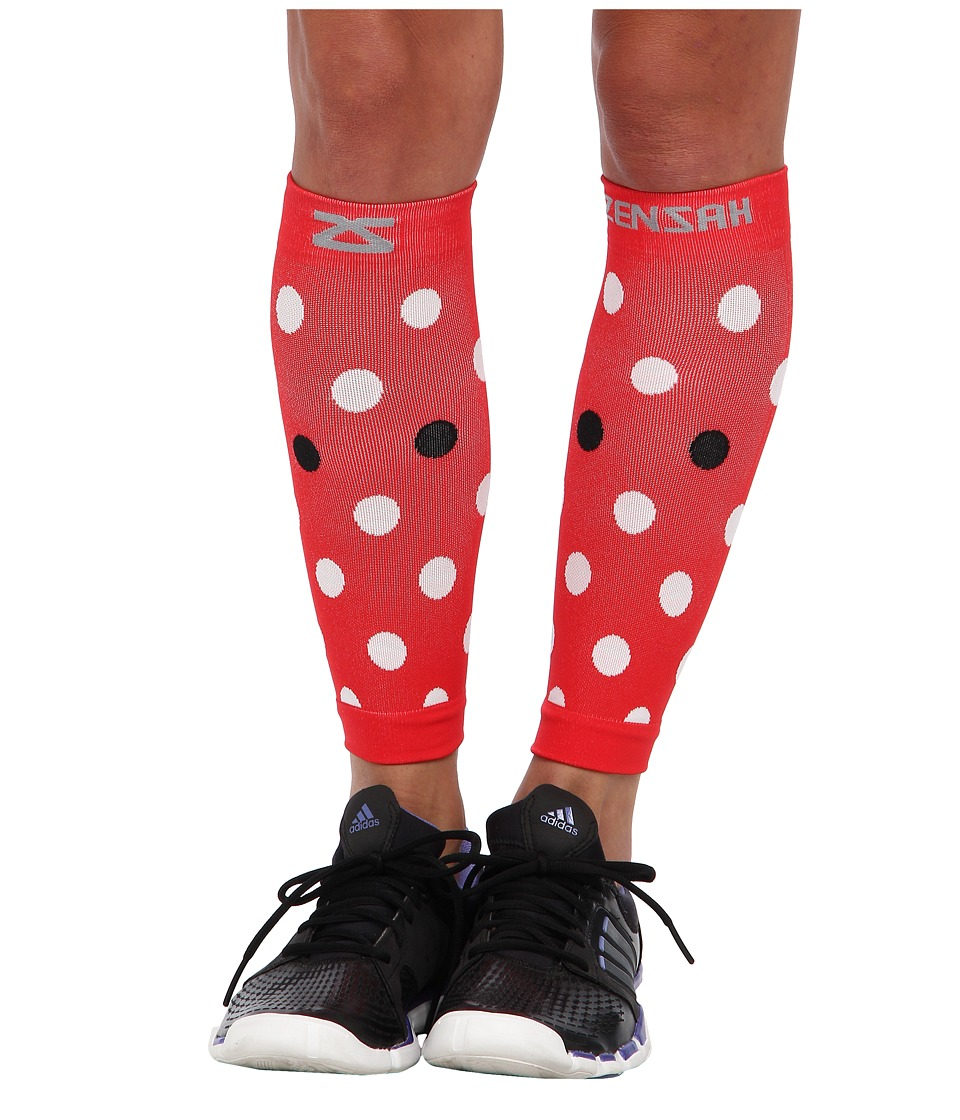 Zensah - DeZign Compression Leg Sleeves (Polka Dot Lady Bug) Running Sports Equipment