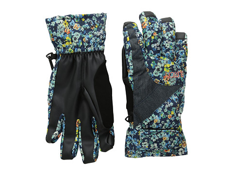 Burton - Approach Under Glove (Confetti Floral/Denim) Extreme Cold Weather Gloves