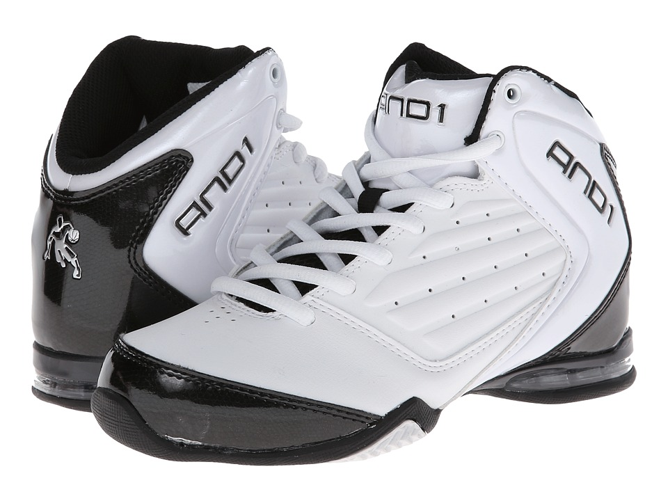 Image of AND1 Kids - Master 2 Mid (Little Kid/Big Kid) (White/Black/Silver) Boys Shoes