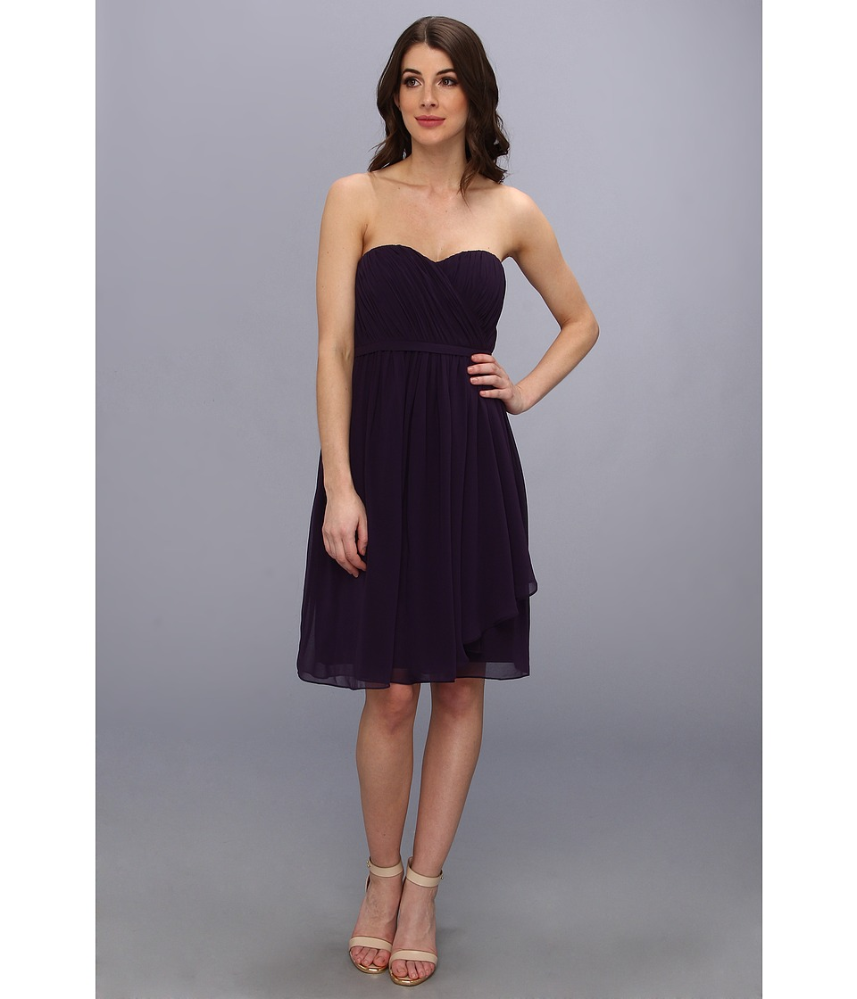 Donna Morgan - Lindsey Strapless Chiffon Dress (Amethyst) Women
