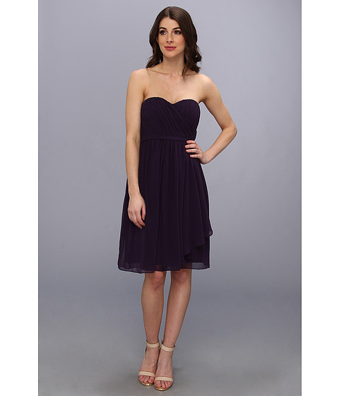 Donna Morgan - Lindsey Strapless Chiffon Dress (Amethyst) Women's Dress