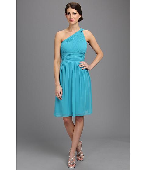 Donna Morgan - Rhea One-Shoulder Dress (Blue/Green) Women