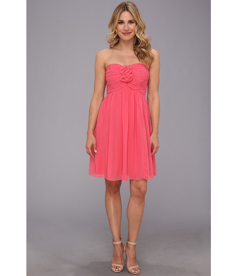 Donna Morgan - Hallie Double Front Rosette Dress (Honeysuckle) Women's Dress