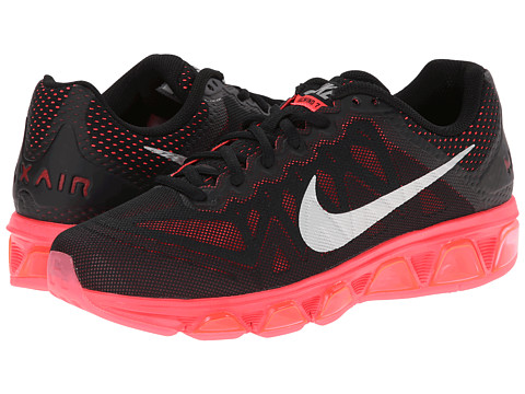Nike - Air Max Tailwind 7 (Black/Hyper Punch/Deep Garnet/Metallic Silver) Women's Running Shoes