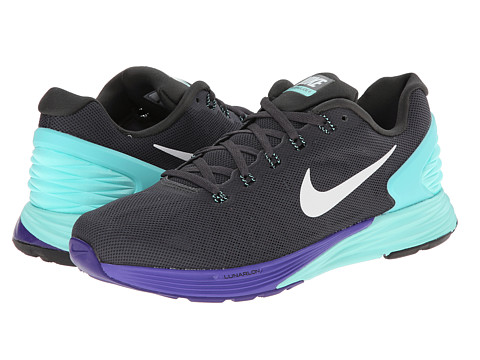Nike - Lunarglide 6 (Medium Ash/Hyper Turquoise/Hyper Grape/Black) Women's Cross Training Shoes