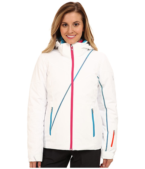 Spyder - M nage Trois 3-in-1 Jacket (White/White Linear Emboss/Girlfriend Linear Multiprint) Women's Coat