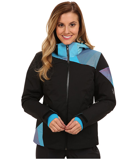 Spyder - Tresh Jacket (Black/Girlfriend Linear Multiprint/Black) Women