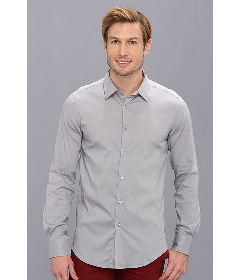 Sovereign Code - Zone L/S (Light Grey) Men's Long Sleeve Button Up