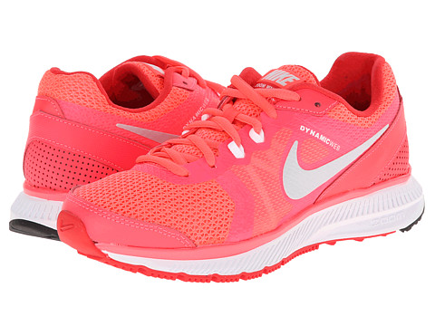 Nike - Zoom Winflo (Hyper Punch/Action Red/Metallic Platinum) Women