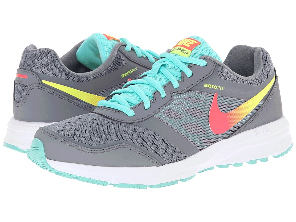 Nike - Air Relentless 4 (Cool Grey/Hyper Turquoise/Volt/Hyper Punch) Women's Running Shoes