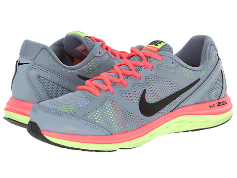 Nike - Dual Fusion Run 3 (Magnet Grey/Hyper Punch/Volt/Black) Women's Running Shoes