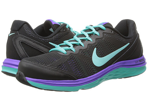 Nike - Dual Fusion Run 3 (Black/Hyper Jade/Hyper Grape/Hyper Turquoise) Women's Running Shoes