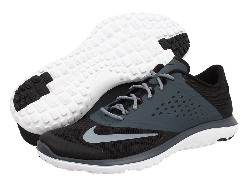 Nike - FS Lite Run 2 (Black/Dark Magnet Grey/White/Magnet Grey) Women