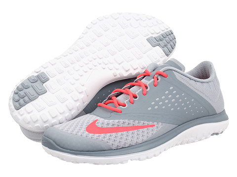 Nike - FS Lite Run 2 (Light Magnet Grey/Magnet Grey/White/Hyper Punch) Women's Running Shoes