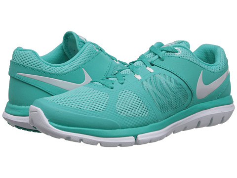 Nike - Flex 2014 Run (Hyper Jade/Hyper Turquoise/White/Metallic Platinum) Women's Running Shoes