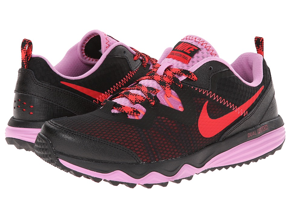 Nike - Dual Fusion Trail (Black/Light Magenta/Hyper Punch/Action Red) Women