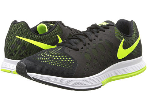 Nike - Zoom Pegasus 31 (Black/Volt) Men's Running Shoes