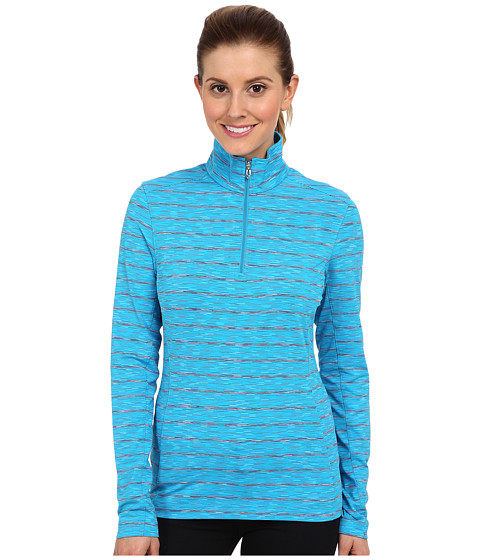 Spyder - Bocca Poly Stretch T-Neck Top (Riviera) Women's Long Sleeve Pullover