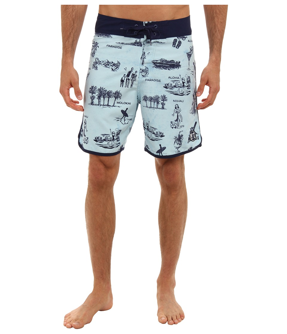 Body Glove - Suck Em Up Boardshort (Ice Blue) Men's Swimwear