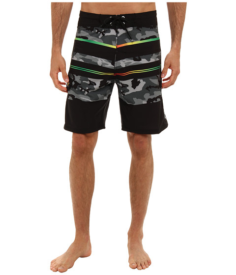 Body Glove - Vaporskin Jungle Boo Boardshort (Black) Men's Swimwear