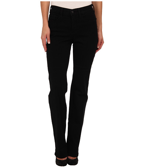 NYDJ - Marilyn Straight Leg Tall Classic Overdye (Black) Women's Jeans