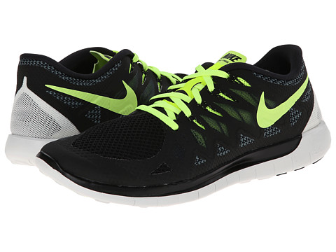Nike - Nike Free 5.0 '14 (Black/Dark Magnet Grey/Summit White/Volt) Men's Running Shoes