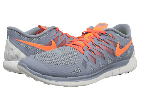 Nike - Nike Free 5.0 '14 (Magnet Grey/Light Magnet Grey/Summit White/Hyper Crimson) Men's Running Shoes