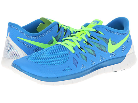 Nike - Nike Free 5.0 '14 (Photo Blue/University Blue/Black/Electric Green) Men's Running Shoes