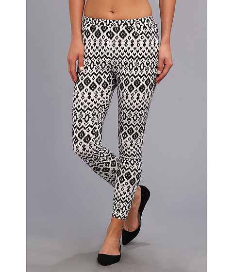 Steve Madden - Aztec Rayon Printed Legging (Black) Women's Casual Pants