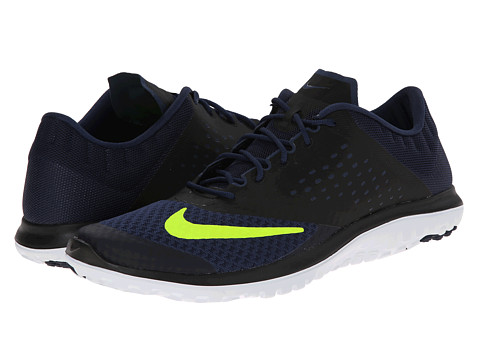 Nike - FS Lite Run 2 (Midnight Navy/Black/White/Volt) Men