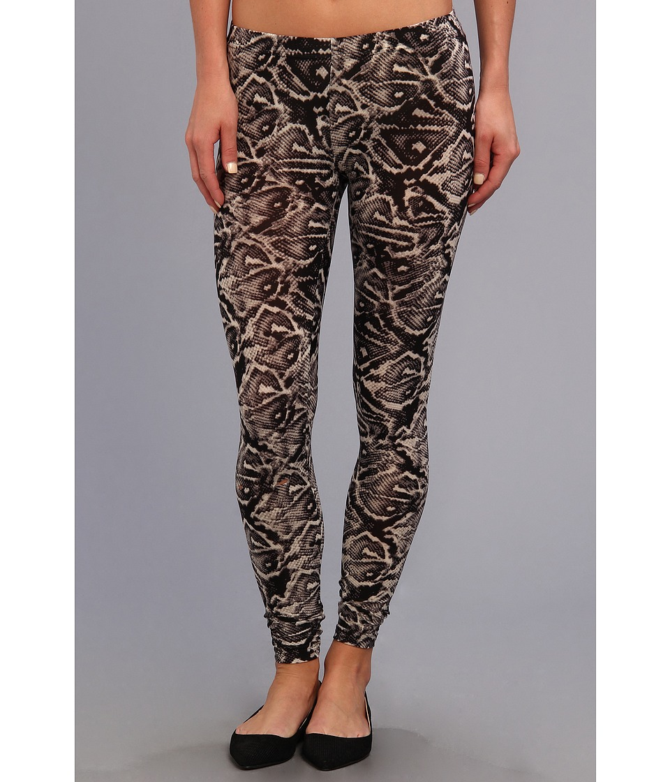 Steve Madden - Tribal Poly/Spandex Print Legging (Black) Women's Casual Pants